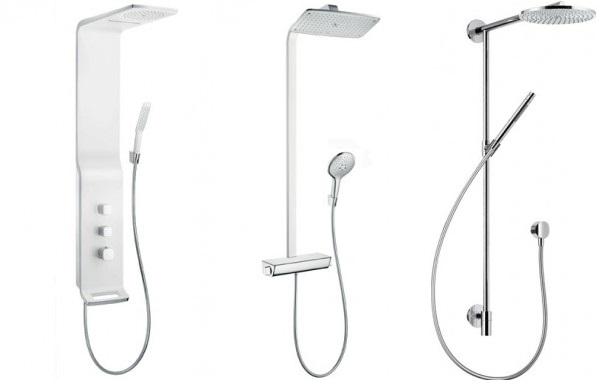 Moderne Duschsysteme