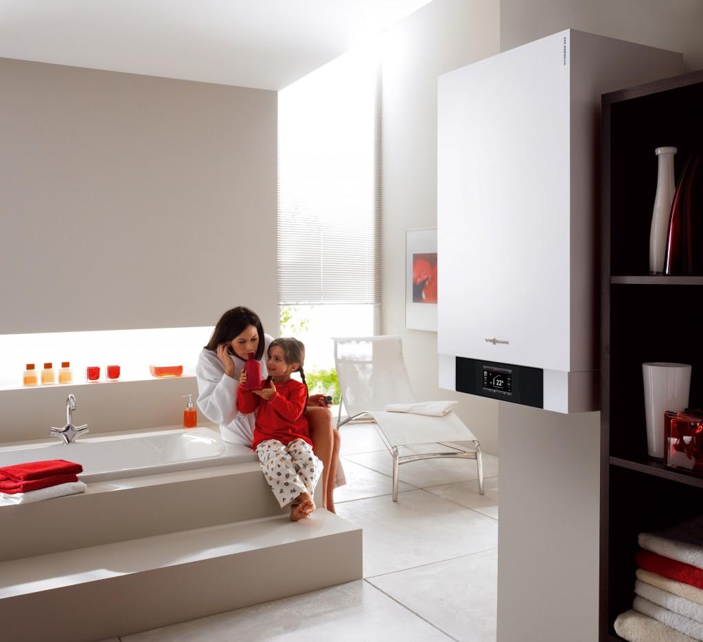 Abbildung 3: Kurze Leitungen sparen Energie. Thermen, Boiler und Durchlauferhitzer sollten daher im Bad oder in unmittelbarer Nähe platziert werden.