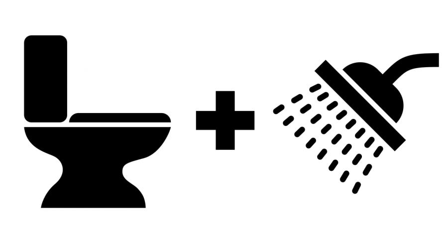 Dusch WC Icon: Toilette plus Dusche